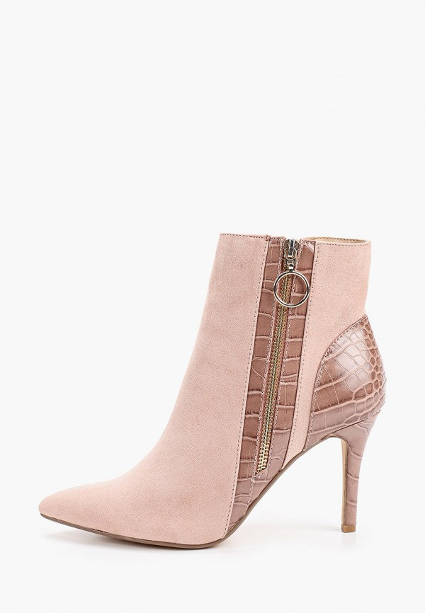 женские ботильоны dorothy perkins curve, розовые