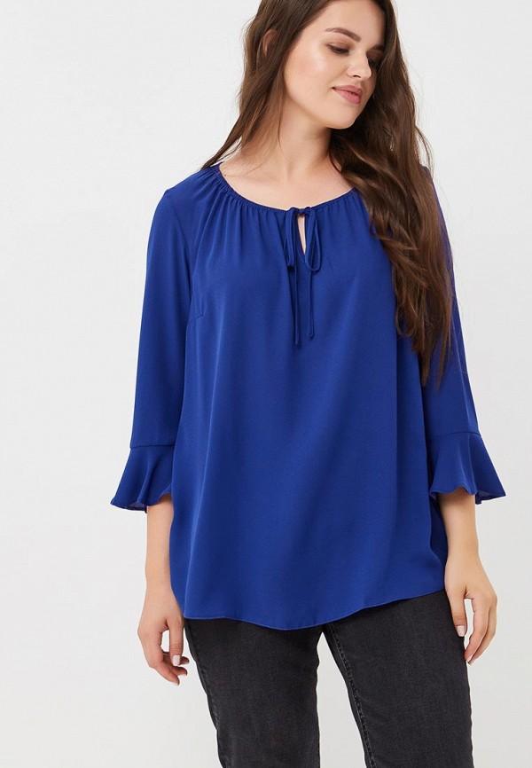 Купить Блуза Dorothy Perkins Curve, do029ewbycy3, синий, Осень-зима 2018/2019