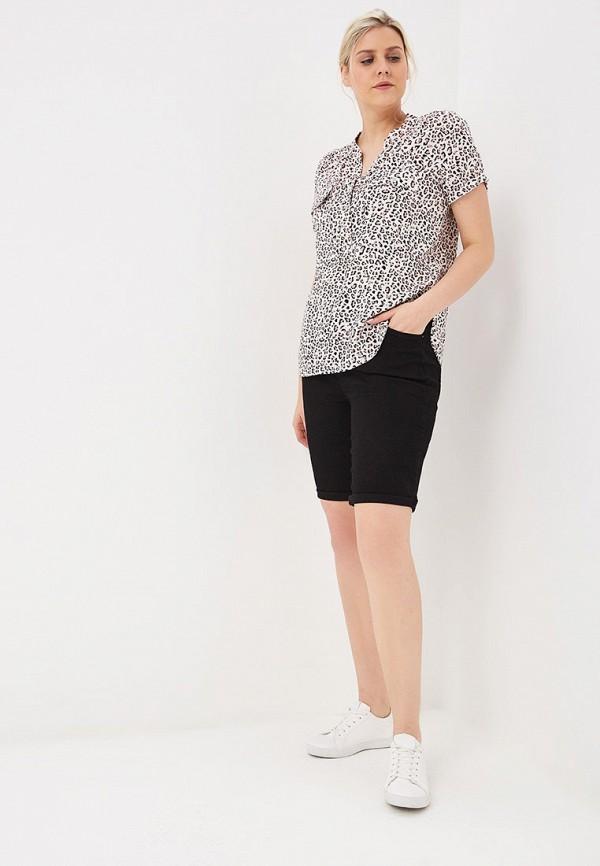 Фото 2 - Шорты джинсовые Dorothy Perkins Curve черного цвета