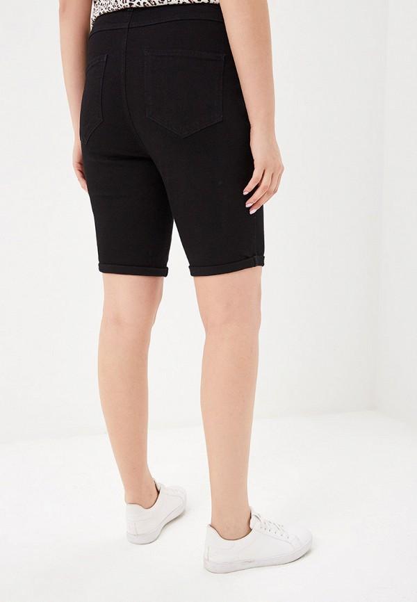 Фото 3 - Шорты джинсовые Dorothy Perkins Curve черного цвета