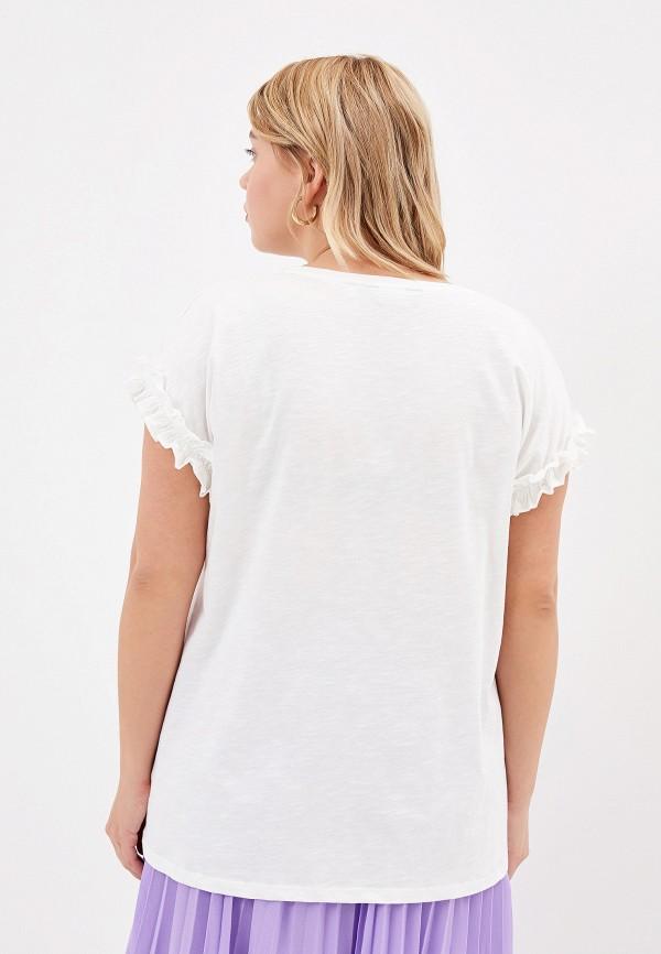 Фото 3 - женскую футболку Dorothy Perkins Curve белого цвета