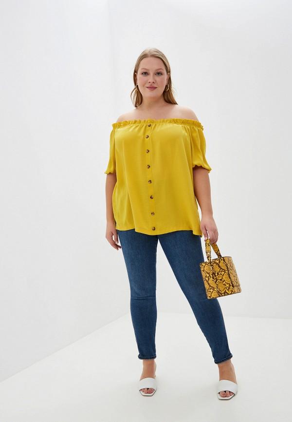 Фото 2 - женскую блузку Dorothy Perkins Curve желтого цвета
