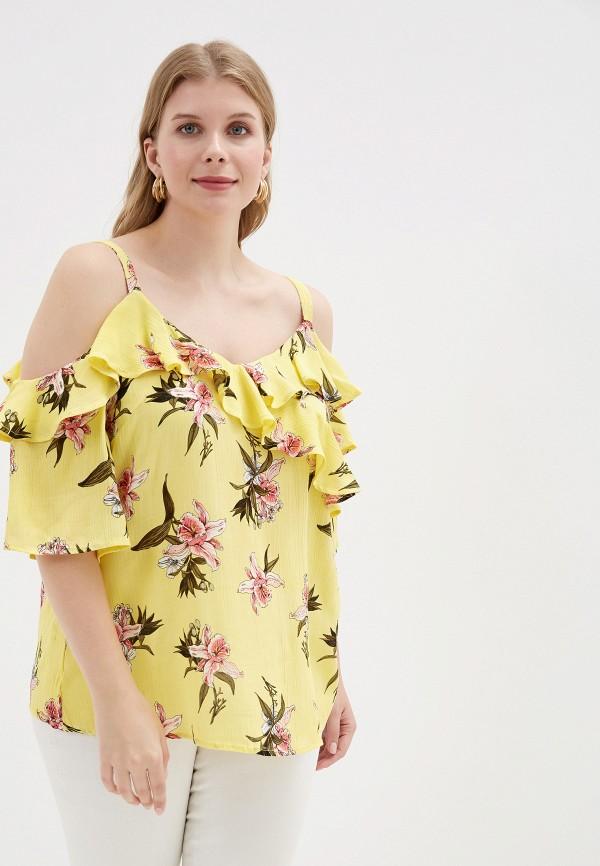женская блузка dorothy perkins curve, желтая