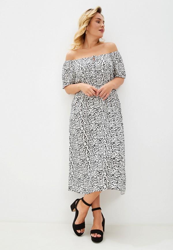 Фото 2 - женское платье Dorothy Perkins Curve белого цвета