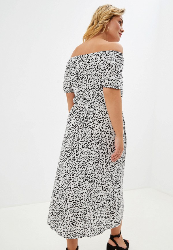 Фото 3 - женское платье Dorothy Perkins Curve белого цвета
