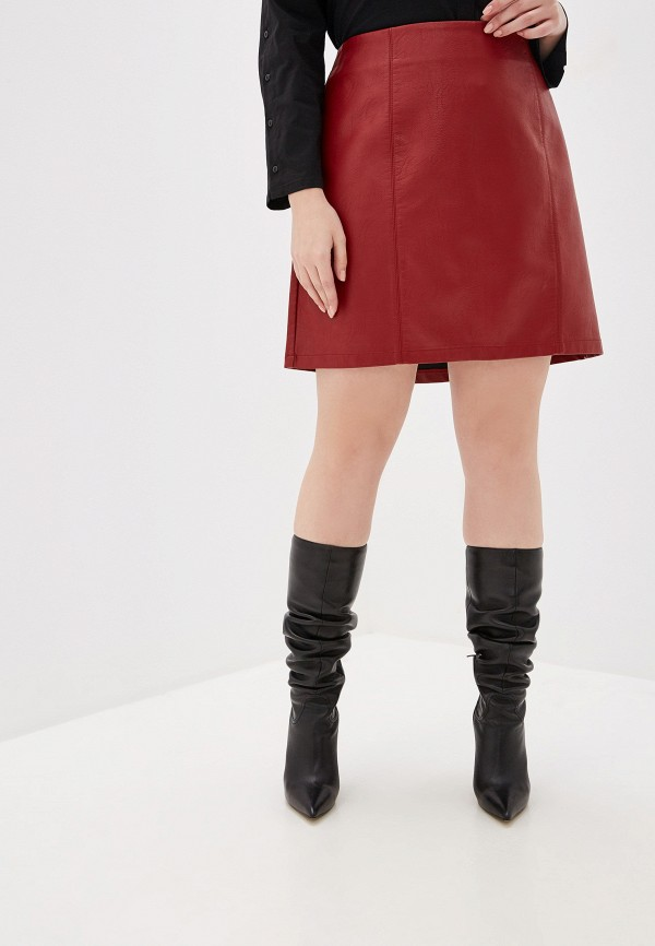 женская юбка dorothy perkins curve, красная