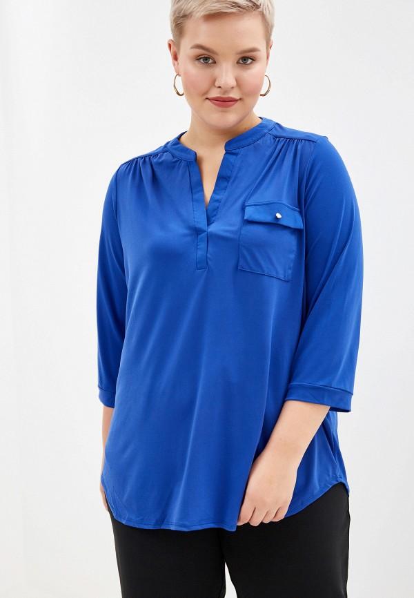 женская блузка dorothy perkins curve, синяя