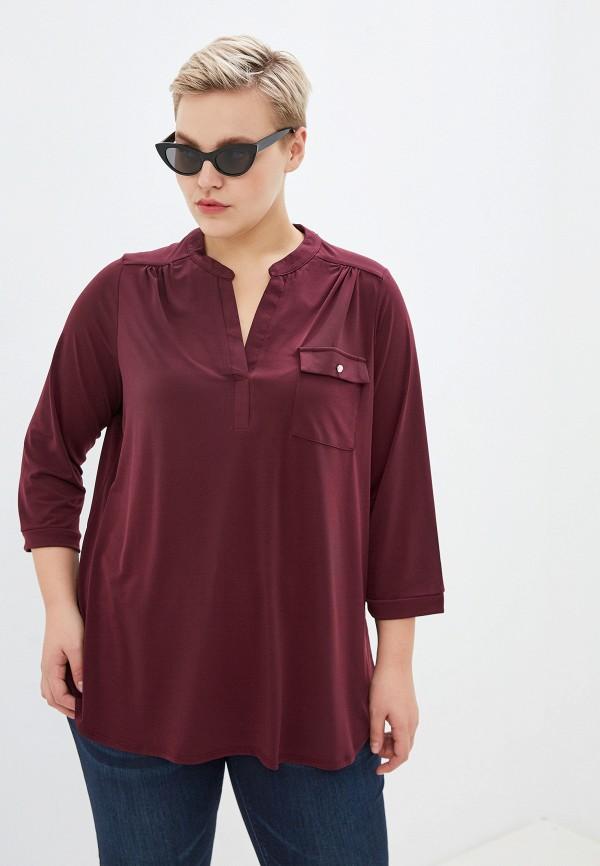 женская блузка dorothy perkins curve, бордовая