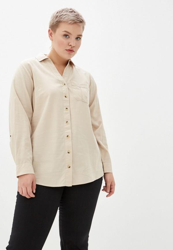 женская блузка dorothy perkins curve, бежевая