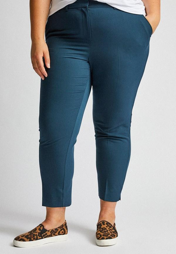 женские повседневные брюки dorothy perkins curve, бирюзовые