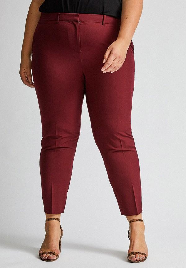 женские прямые брюки dorothy perkins curve, бордовые