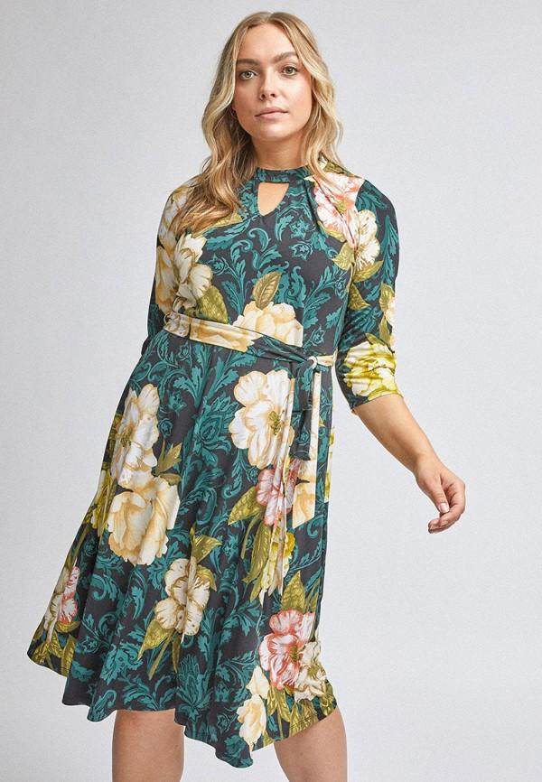 женское повседневные платье dorothy perkins curve, зеленое