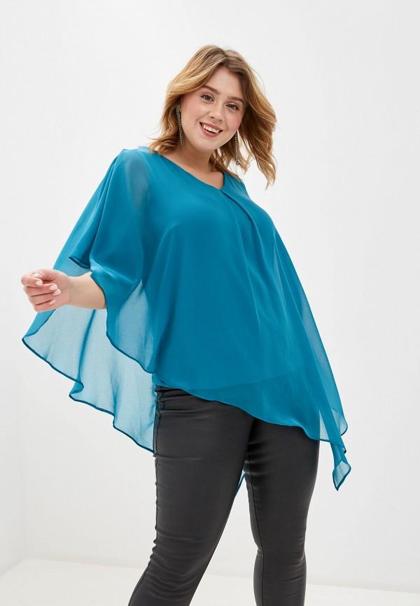 женская туника dorothy perkins curve, голубая