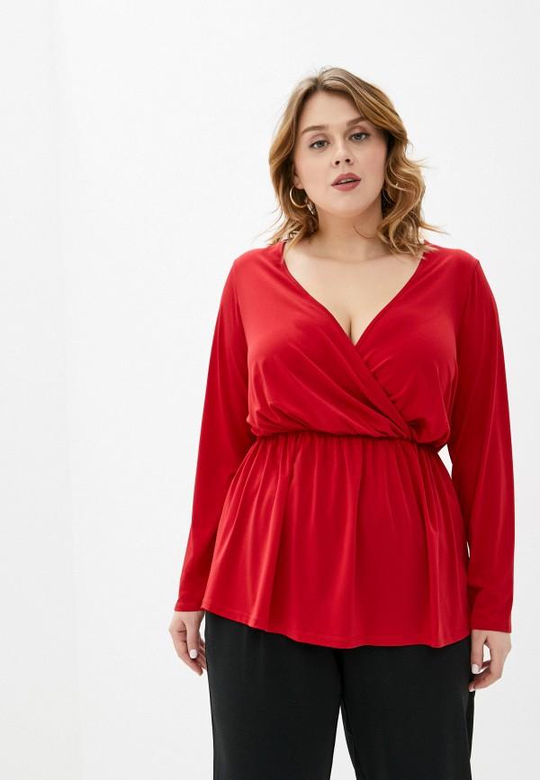 женская блузка dorothy perkins curve, красная