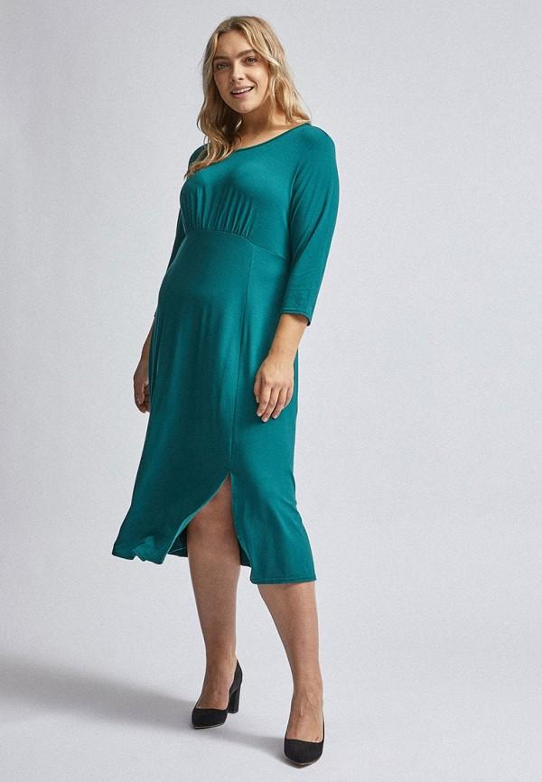женское повседневные платье dorothy perkins curve, бирюзовое