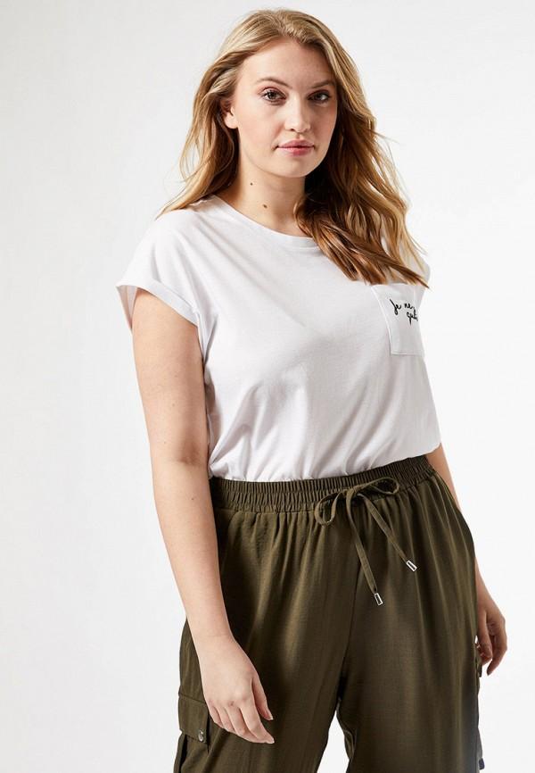 женская футболка dorothy perkins curve, белая