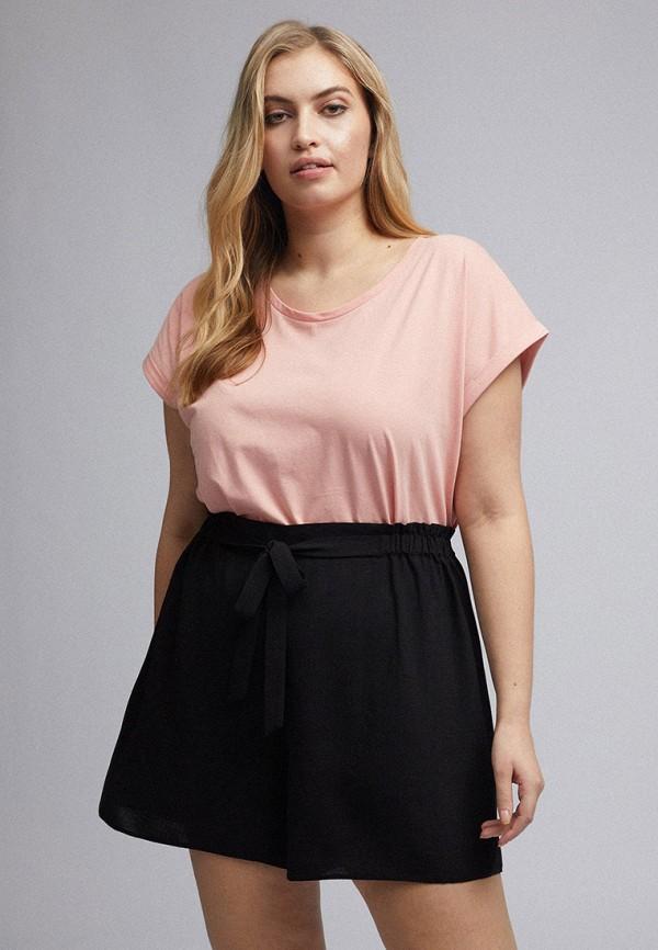 женские повседневные шорты dorothy perkins curve, черные