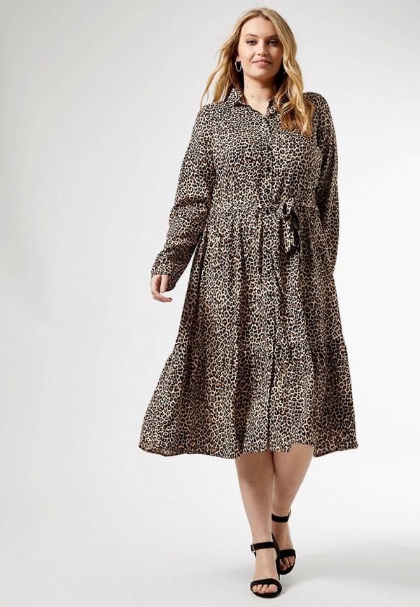 женское повседневные платье dorothy perkins curve, бежевое