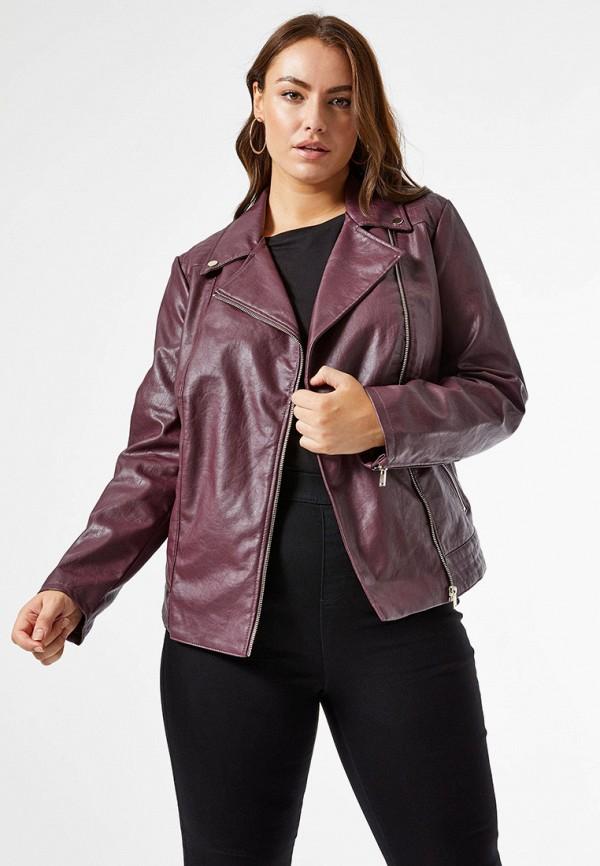 женская куртка dorothy perkins curve, фиолетовая