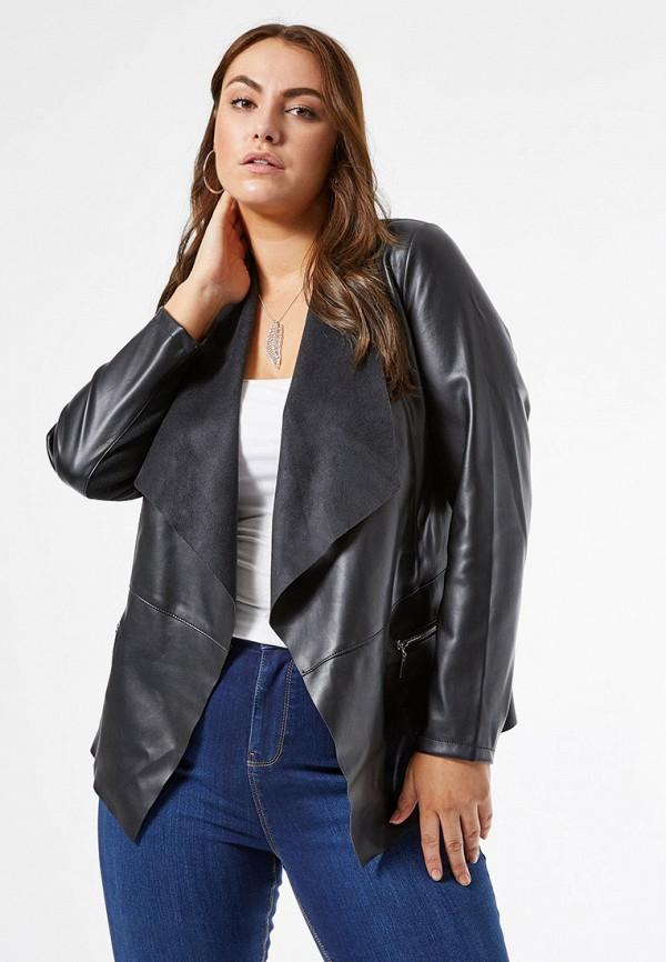 женская куртка dorothy perkins curve, черная