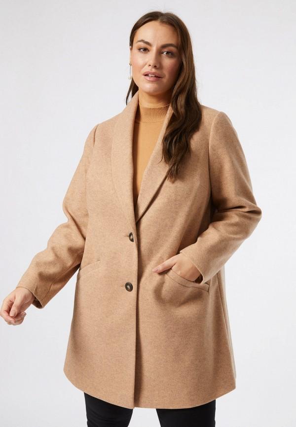 женское пальто dorothy perkins curve, бежевое
