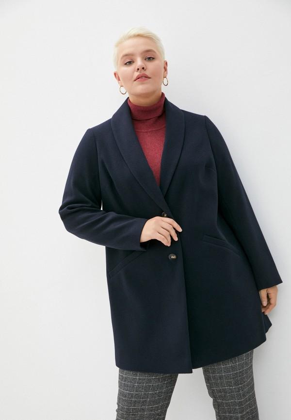 женское пальто dorothy perkins curve, синее