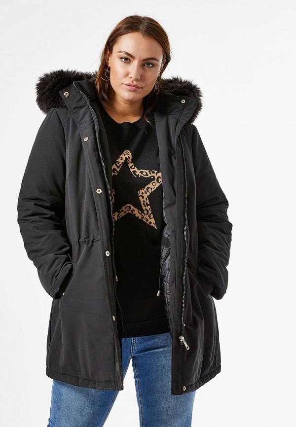 женская куртка dorothy perkins curve, коричневая