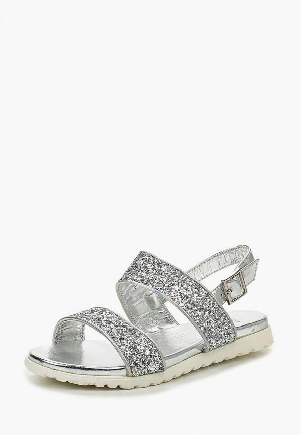 женские сандалии donna moda, серебряные