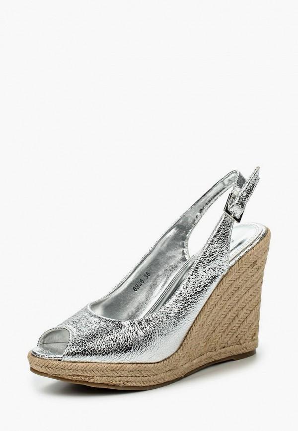 женские босоножки donna moda, серебряные