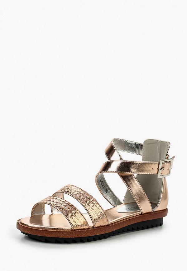 женские сандалии donna moda, золотые