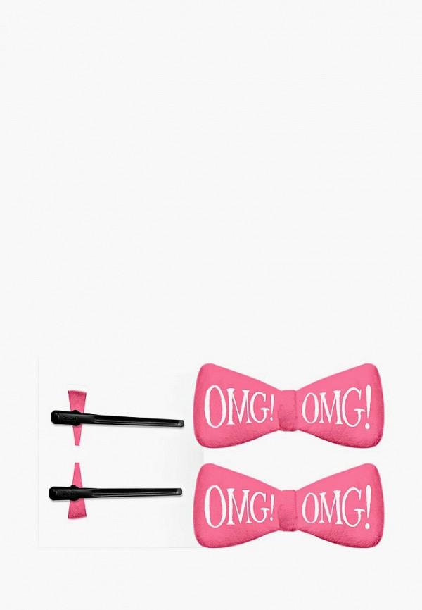 Купить Заколка Double Dare, OMG! для фиксации волос во время косметических процедур, ярко-розовая, DO037LWBBEH6, розовый, Осень-зима 2018/2019