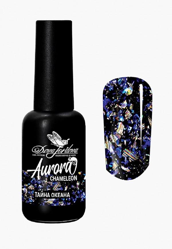 женский лак для ногтей dona jerdona, синий