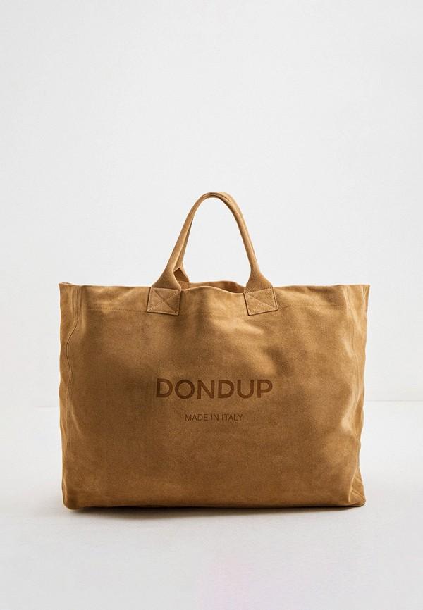 женская сумка dondup, бежевая