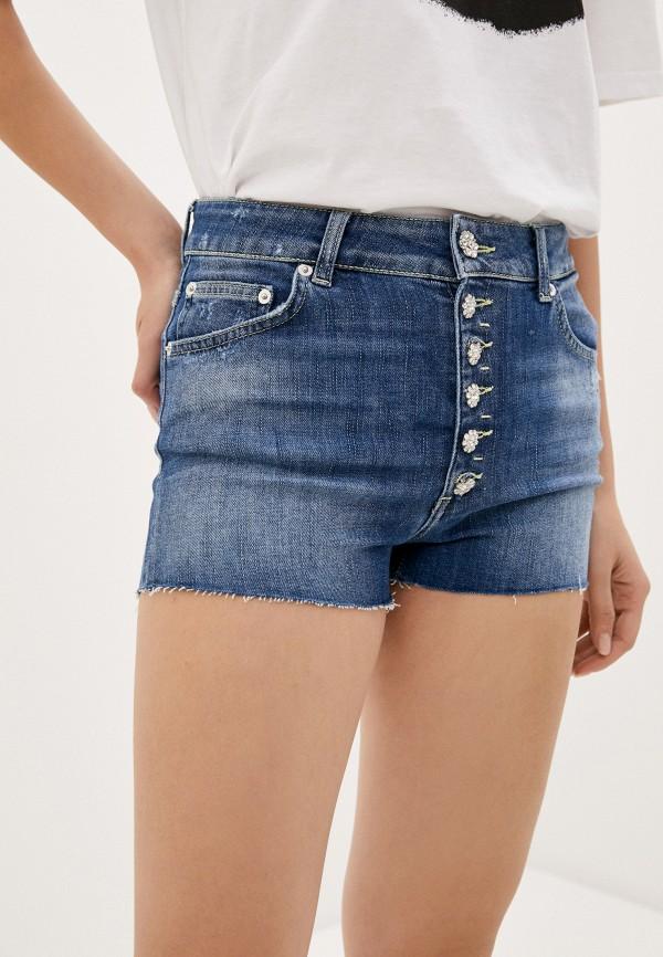 женские джинсовые шорты dondup, синие