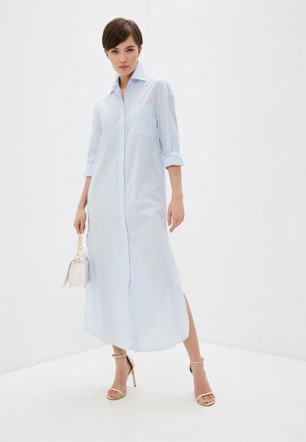женское платье dondup, голубое