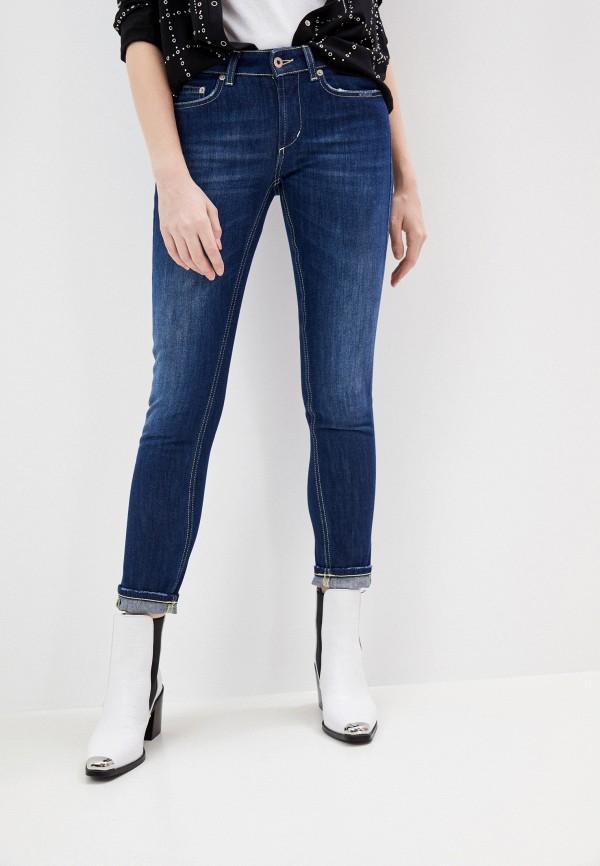 женские джинсы скинни dondup, синие