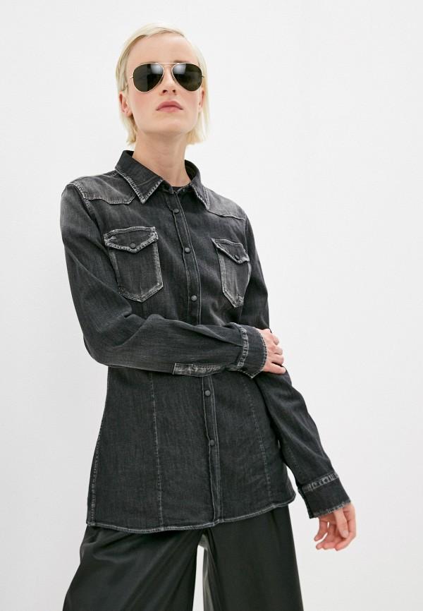 женская джинсовые рубашка dondup, серая
