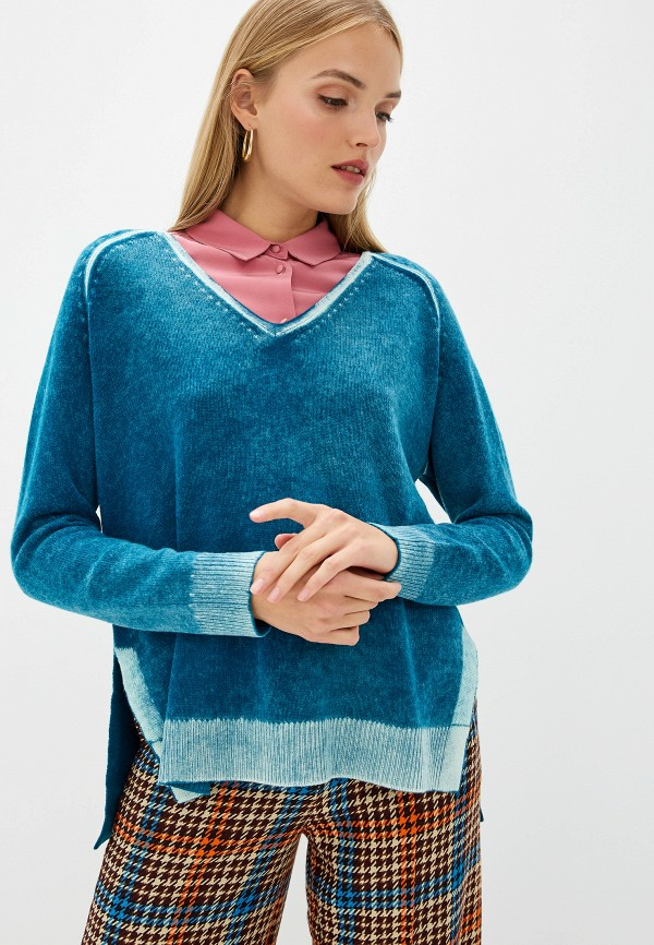 женский пуловер dorothee schumacher, бирюзовый