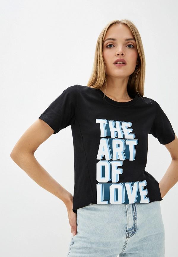 женская футболка dorothee schumacher, черная