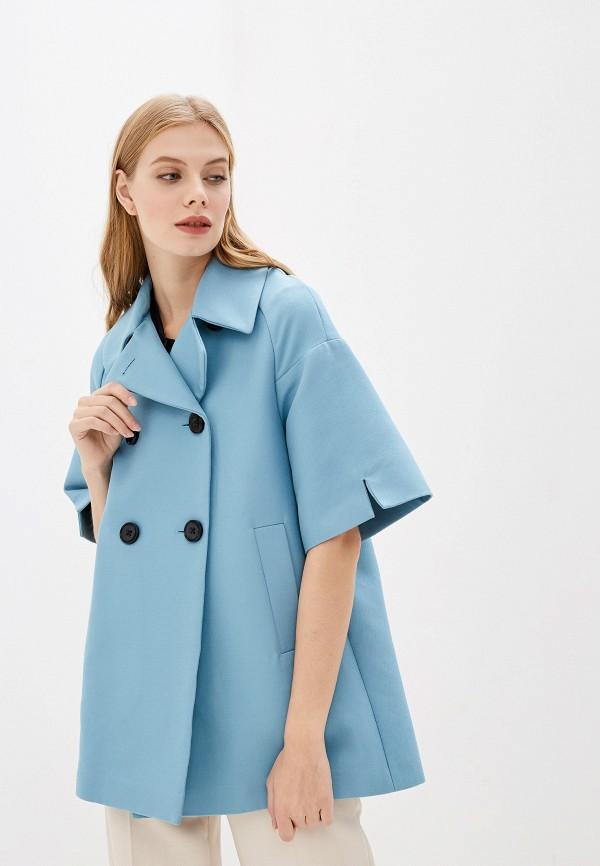 женское пальто dorothee schumacher, голубое