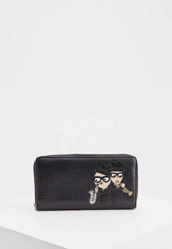 мужской кошелёк dolce & gabbana, черный