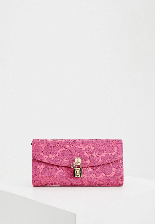 женская сумка dolce & gabbana, розовая
