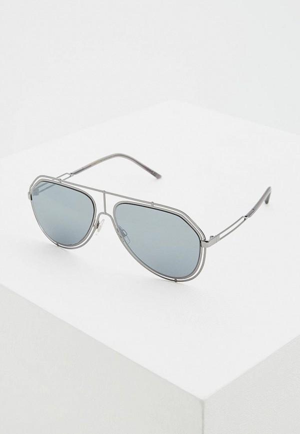 мужские солнцезащитные очки dolce & gabbana, серебряные