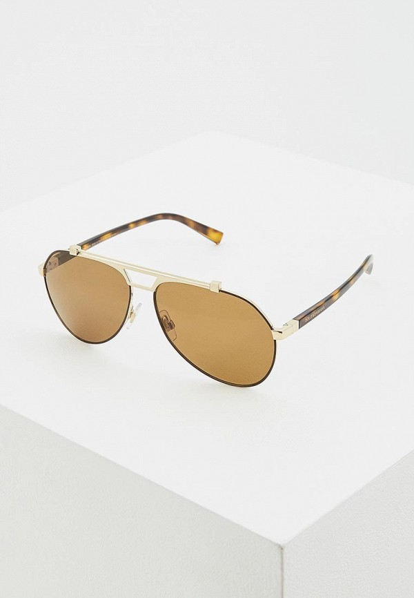 мужские солнцезащитные очки dolce & gabbana, золотые
