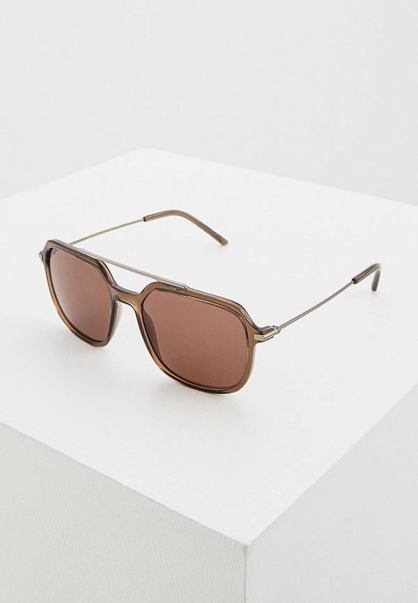 мужские авиаторы солнцезащитные очки dolce & gabbana, коричневые