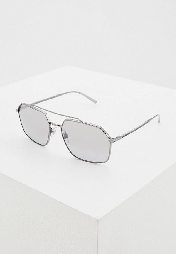 мужские квадратные солнцезащитные очки dolce & gabbana, серебряные