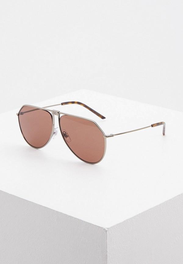 мужские авиаторы солнцезащитные очки dolce & gabbana, серебряные