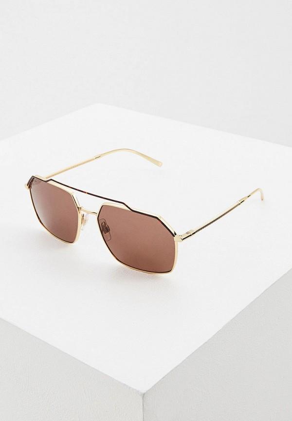 мужские авиаторы солнцезащитные очки dolce & gabbana, золотые