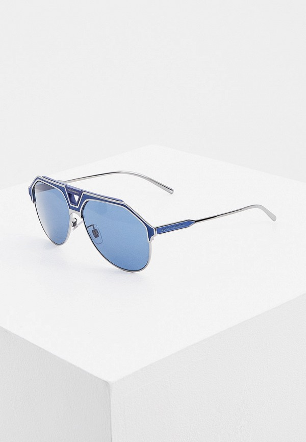мужские авиаторы солнцезащитные очки dolce & gabbana, синие