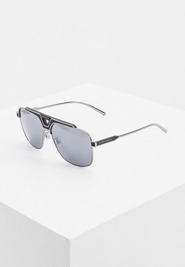 мужские авиаторы солнцезащитные очки dolce & gabbana, серые